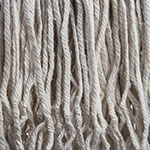 Carlisle 369824B00 Wet Mop Head - #24, 4-Ply, Cut-End, Natural Cotton Yarn