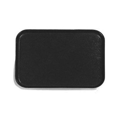 Carlisle 3753FG004 Rectangular Cafeteria Tray - 53x37cm, Black