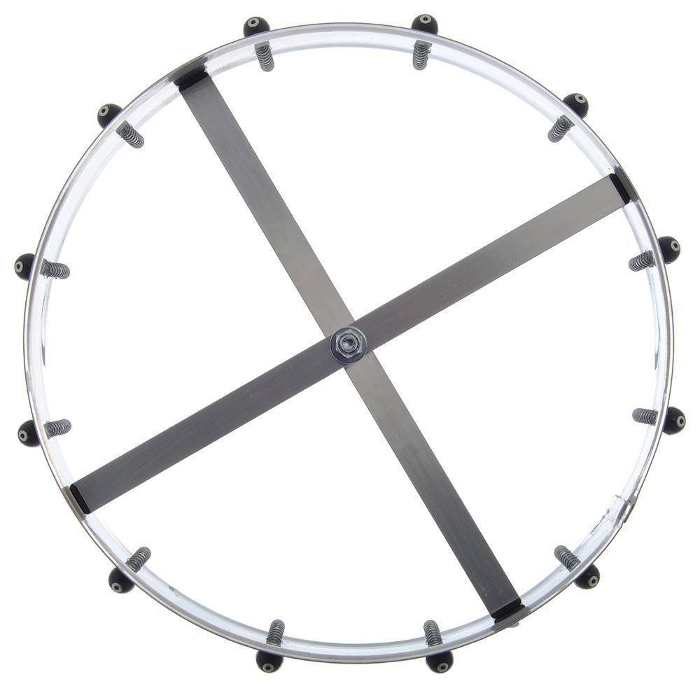 "Carlisle 3812CM 14"" Order Wheel - Counter-Mount, Stainless"