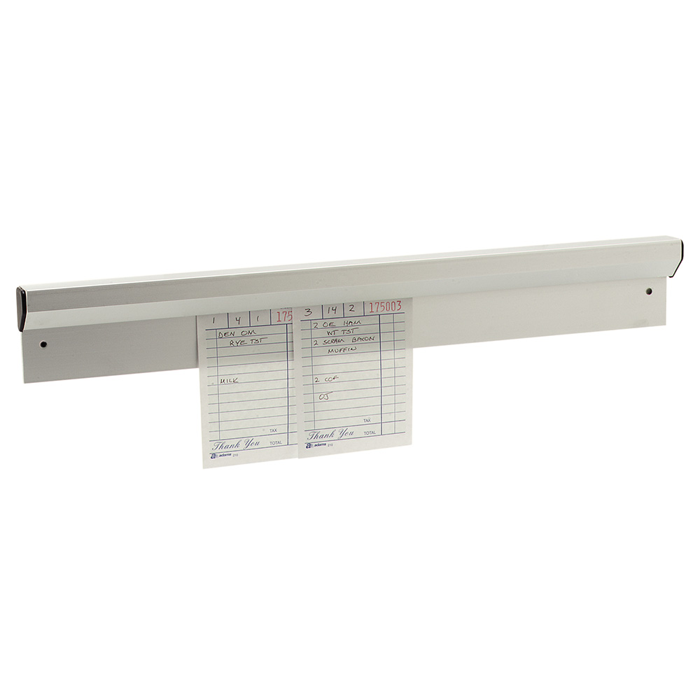 "Carlisle 38180A 18"" Slide Order Rack - Wall Mount, Aluminum"