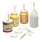 Carlisle 38310 Standard Pump Kit w/ (2) Restrictor Clips & (5) Lids, Plastic, White
