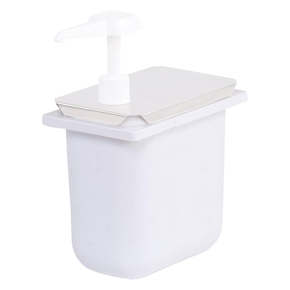 Carlisle 38508 2.5-qt Fountain Jar - Notched, Polyethylene, White