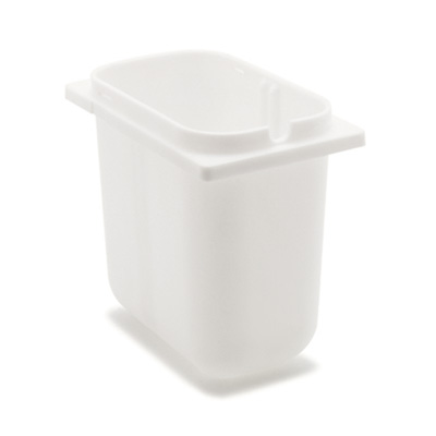 Carlisle 38508 2.5-qt Fountain Jar - Notched, Polyethylene, White