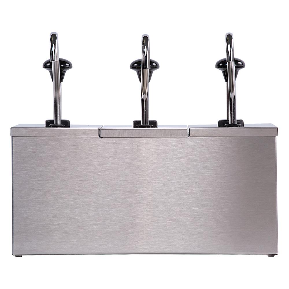Carlisle 386230IB Pump Style Condiment Dispenser w/ (3) 1.25-oz/Stroke, Stainless