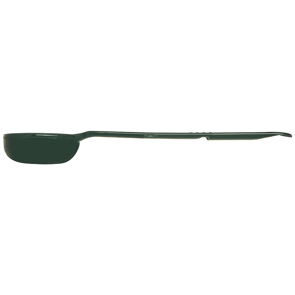 Carlisle 398008 4-oz Solid Portion Spoon - Long Handle, Poly, Forest Green