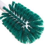 "Carlisle 4000009 12"" Bottle Brush - Wire/Poly, White/Green"