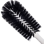 "Carlisle 4000103 16"" Bottle Brush - Wire/Poly, White/Black"