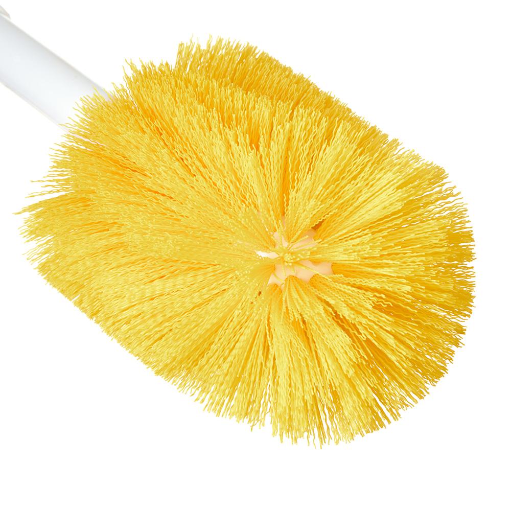 "Carlisle 4000204 16"" Oval Multi Purpose Valve/Fitting Brush - Poly/Plastic, Yellow"