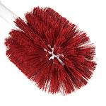 "Carlisle 4000205 16"" Oval Multi Purpose Valve/Fitting Brush - Poly/Plastic, Red"