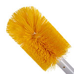 "Carlisle 4000304 30"" Oval Multi Purpose Valve/Fitting Brush - Poly/Plastic, Yellow"
