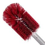 "Carlisle 4000305 30"" Oval Multi Purpose Valve/Fitting Brush - Poly/Plastic, Red"