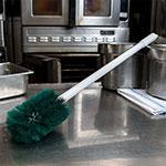 "Carlisle 4000309 30"" Oval Multi Purpose Valve/Fitting Brush - Poly/Plastic, Green"