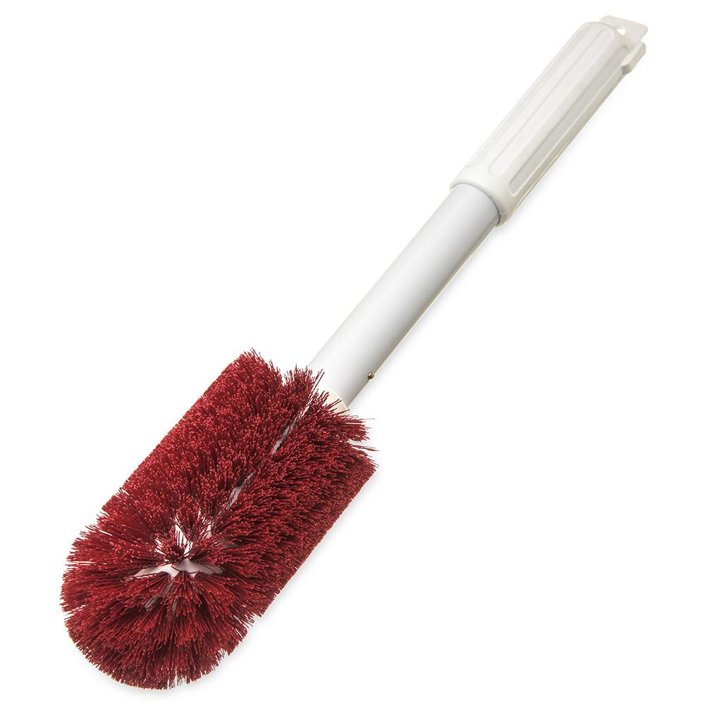 "Carlisle 4000405 16"" Round Multi Purpose Valve/Fitting Brush - Poly/Plastic, Red"