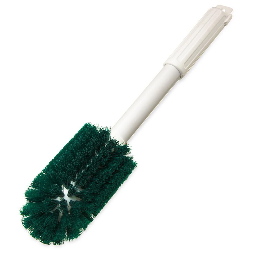 """Carlisle 4000409 16"""" Valve/Fitting Brush - Plastic/Polyester, White/Green"""