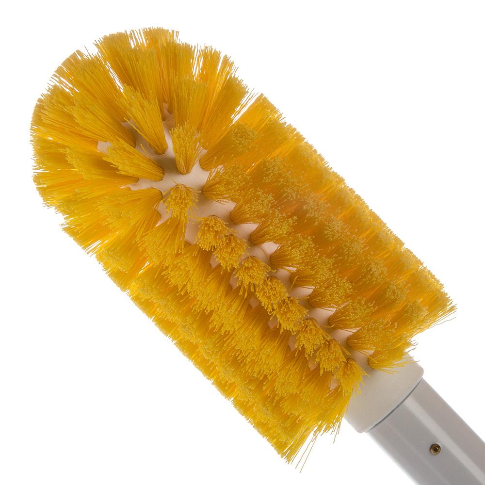 "Carlisle 4000604 30"" Round Multi Purpose Valve/Fitting Brush - Poly/Plastic, Yellow"