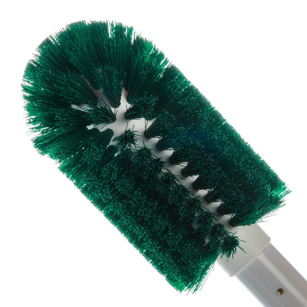 "Carlisle 4000609 30"" Round Multi Purpose Valve/Fitting Brush - Poly/Plastic, Green"