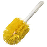 "Carlisle 4001004 30"" Round Multi Purpose Valve/Fitting Brush - Poly, Yellow"