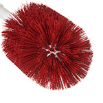 "Carlisle 4001005 30"" Round Multi Purpose Valve/Fitting Brush - Poly, Red"