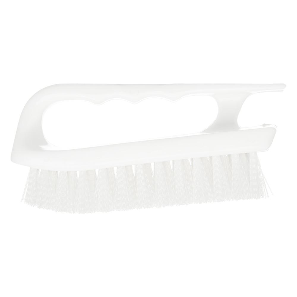 "Carlisle 4002402 6"" Bake Pan Lip Brush - Poly/Plastic, White"