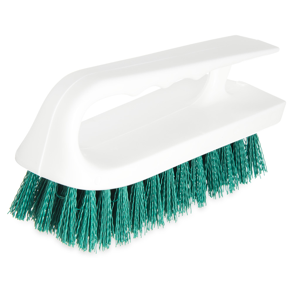 "Carlisle 4002409 6"" Bake Pan Lip Brush - Poly/Plastic, Green"