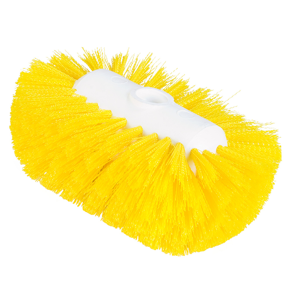 "Carlisle 4004104 7-1/2"" Tank/Kettle Brush Head - Nylon/Plastic, Yellow"