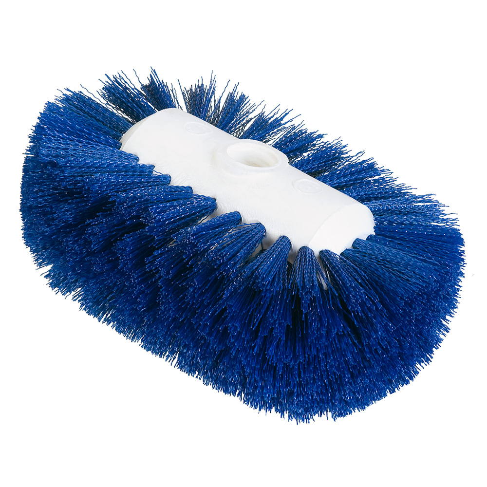 "Carlisle 4004114 7-1/2"" Tank/Kettle Brush Head - Nylon/Plastic, Blue"