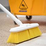 """Carlisle 4005004 9-1/2"""" Wall Brush - Nylex/Plastic, Yellow"""