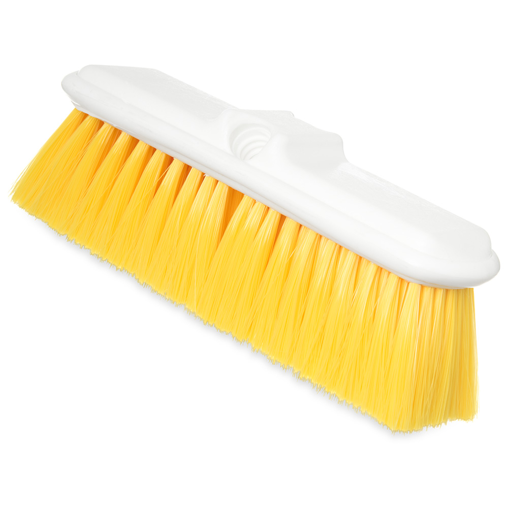 "Carlisle 4005004 9-1/2"" Wall Brush - Nylex/Plastic, Yellow"