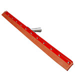 "Carlisle 4007700 36"" Floor Squeegee Head - Straight, Rubber Blade, Heavy-Duty Steel Frame"