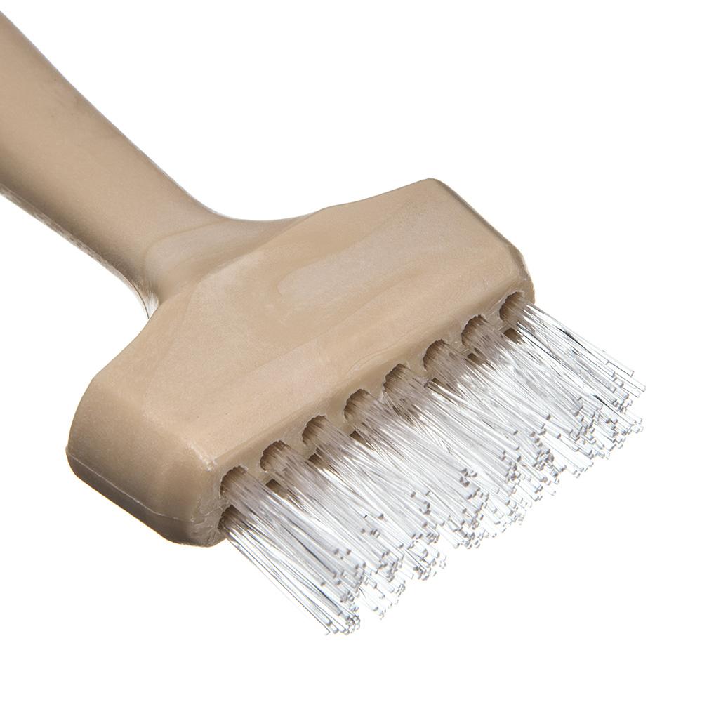 """Carlisle 4011400 7"""" Waffle/Griddle Brush - Teflon/Plastic"""