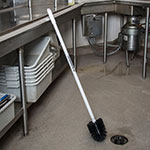 "Carlisle 4023600 36"" Floor Drain Handle - Threaded, Bilingual Imprint, Plastic"