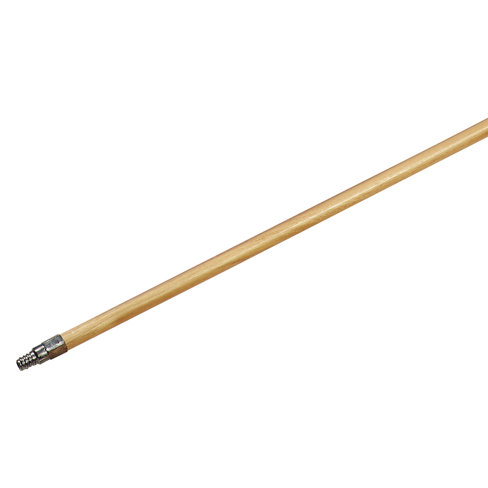"""Carlisle 4027500 40"""" Handle Replacement - Metal Tip Threaded, Lacquered, Hardwood"""