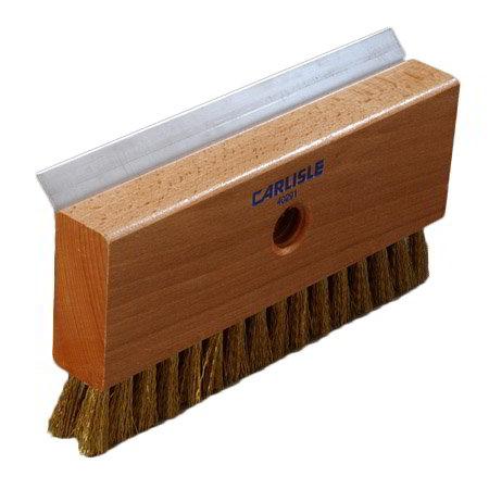 "Carlisle 4029100 8-1/2"" Oven Brush with Scraper Head - Brass"