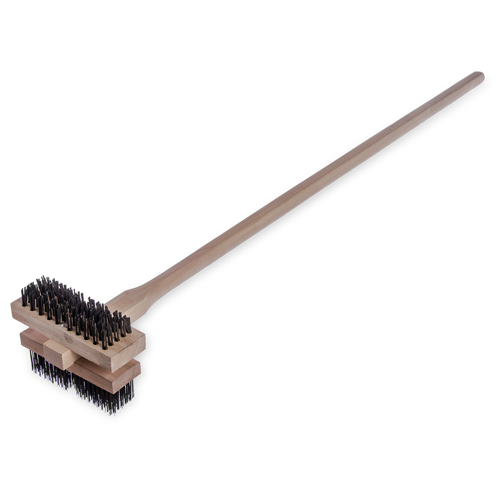 Carlisle 4029400 Double Broiler King Brush - Carbon Steel/Hardwood