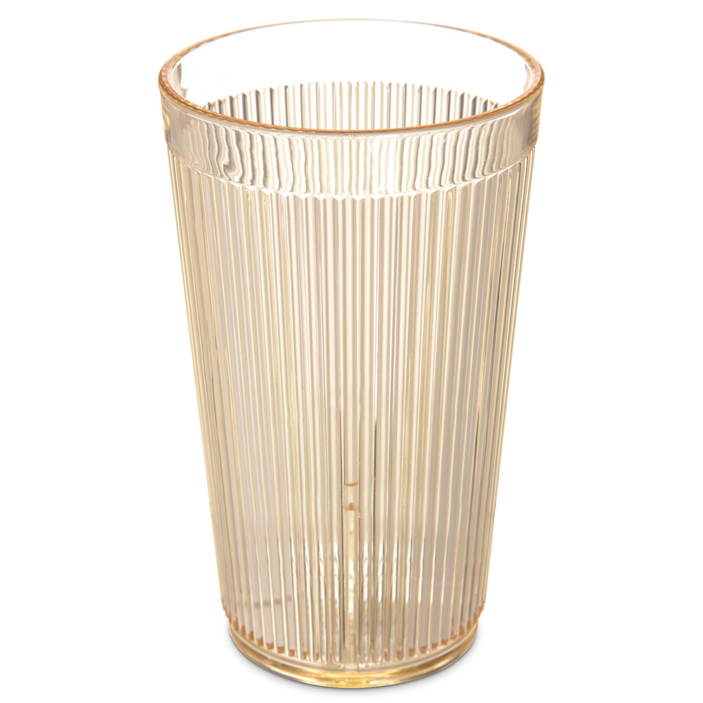 Carlisle 403322 12-oz RimGlow Tumbler - Polycarbonate, Honey Yellow