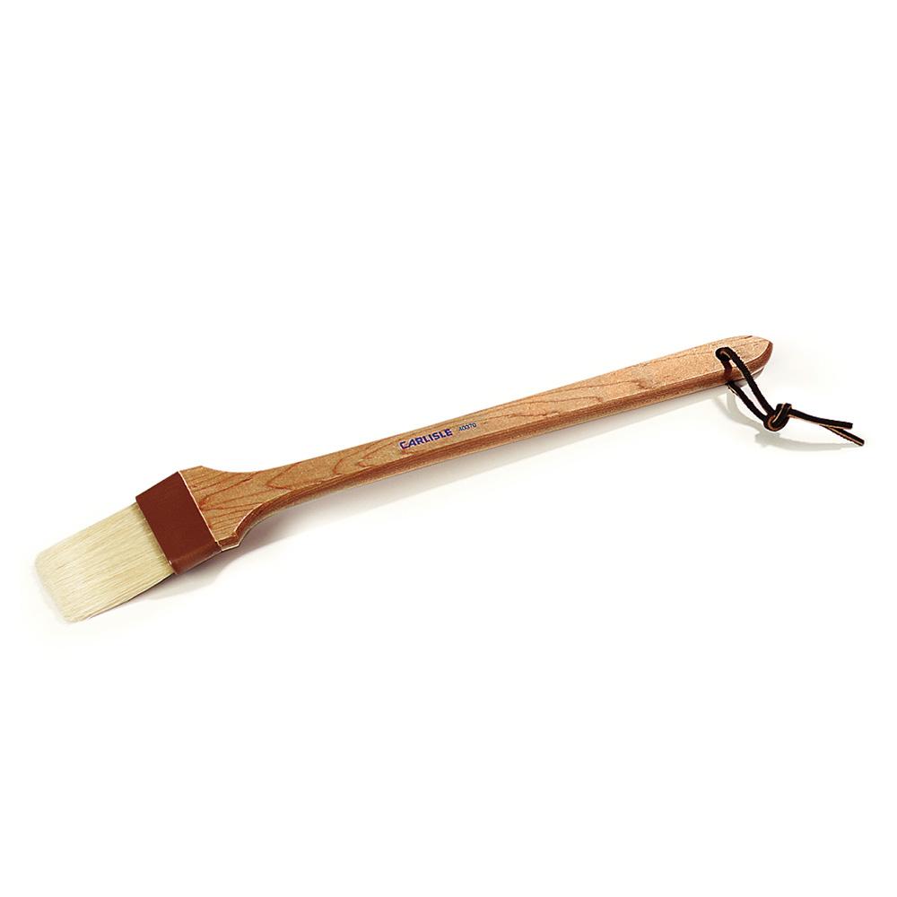 """Carlisle 4037000 12"""" Basting Brush - 2"""" Bristles, 45 Handle, Brown"""