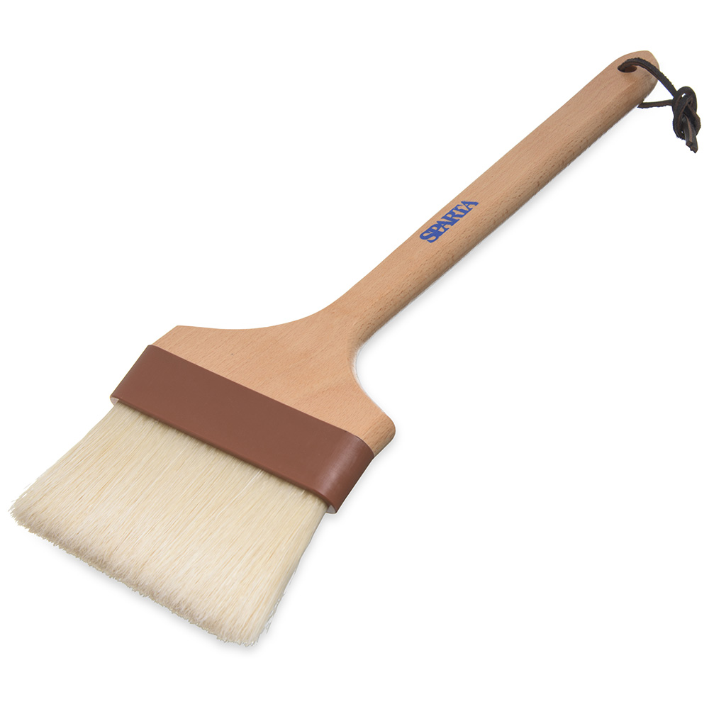 "Carlisle 4037100 12"" Basting Brush - 4"" Bristles, 45 Handle, Brown"