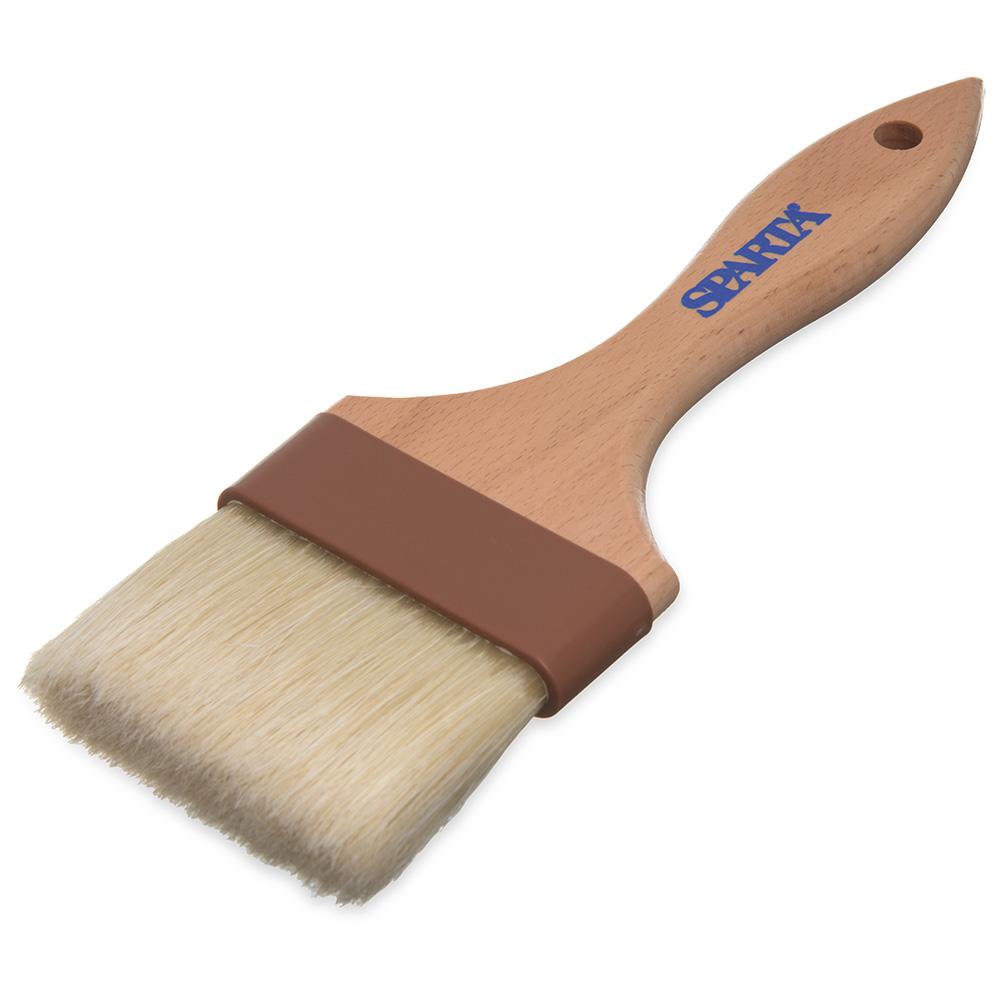 """Carlisle 4037500 Basting Brush - 3"""" Bristles, Brown"""