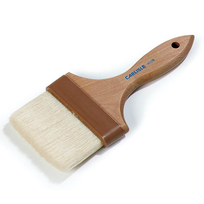 "Carlisle 4037600 Basting Brush - 4"" Bristles, Brown"