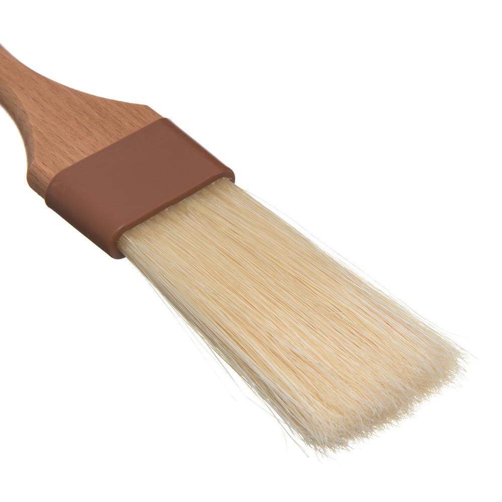 "Carlisle 4037700 Basting Brush - 1-1/2"" Extra-Long Bristles, Brown"