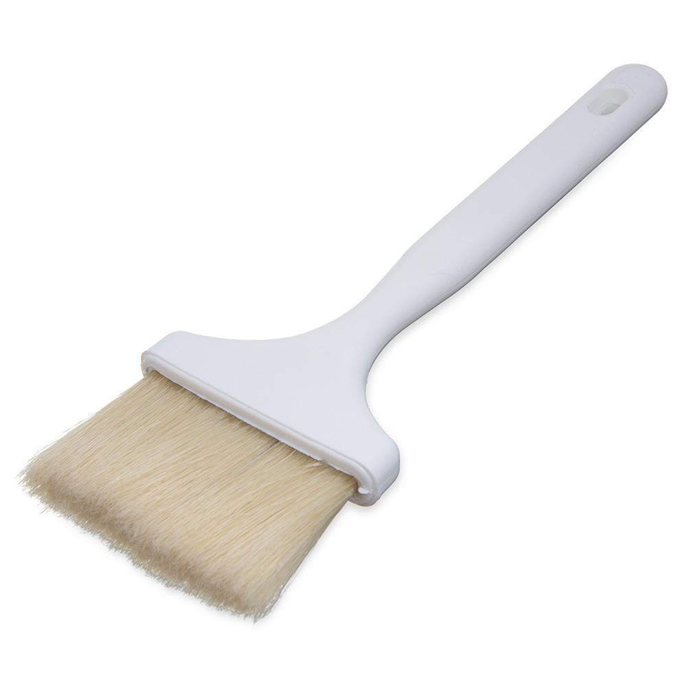 Carlisle 4037900 Pastry Basting Brush, 3 in, Boar Bristles, Molded Into Handle Hook