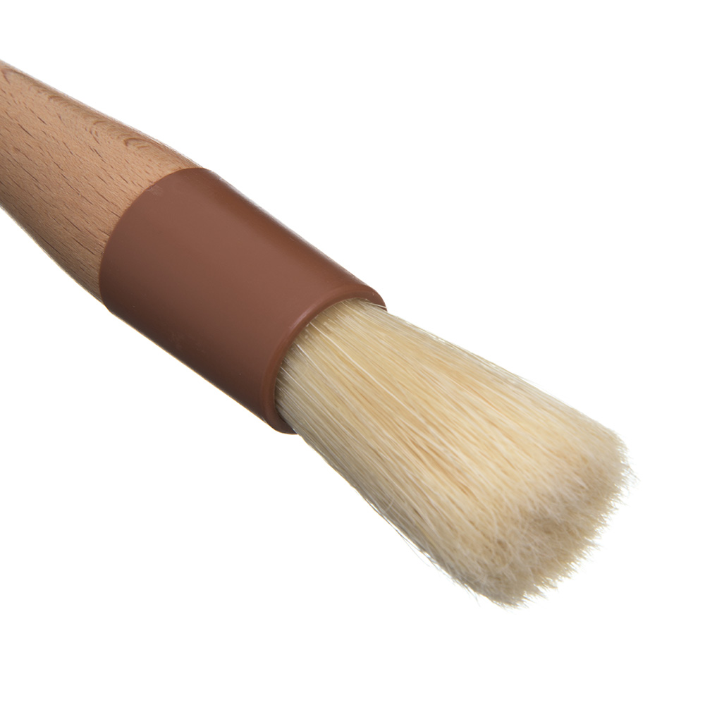"Carlisle 40380 Basting Brush - 1"" Round Bristles, Brown"