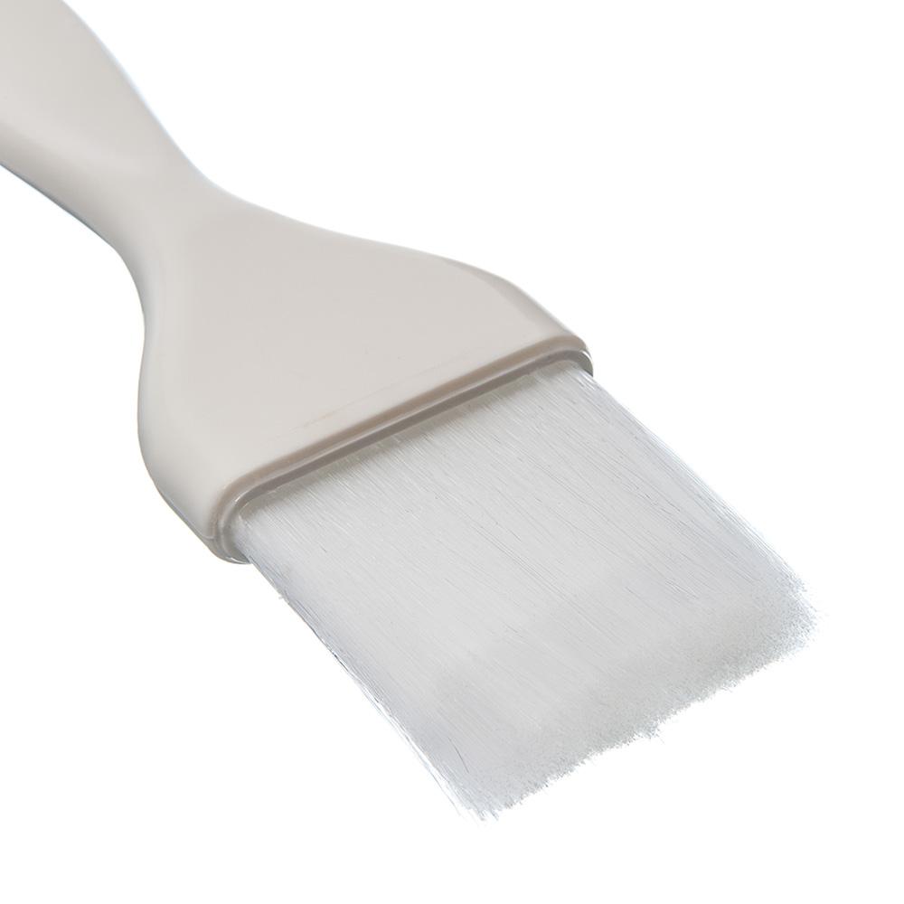 "Carlisle 4039102 2"" Pastry Brush - Nylon/Plastic, White"