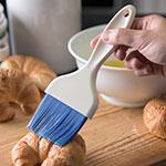 "Carlisle 4039214 3"" Pastry Brush - Nylon/Plastic, Blue"