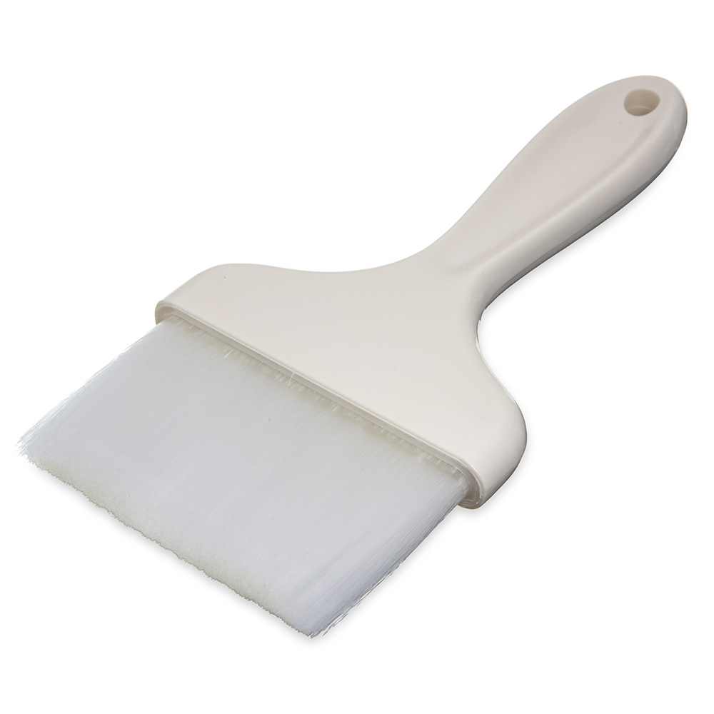 "Carlisle 4039302 4"" Pastry Brush - Nylon/Plastic, White"