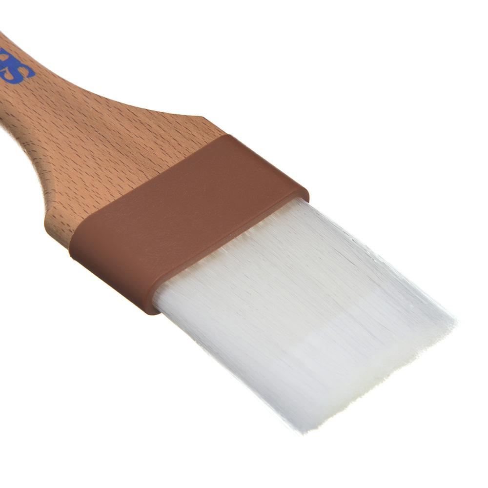 """Carlisle 4039700 2"""" Pastry Brush - Nylon/Hardwood, White"""