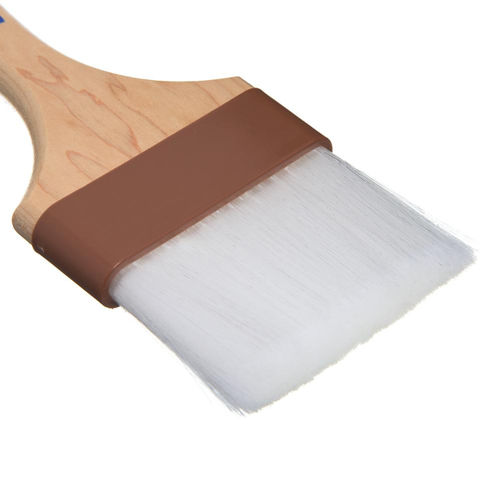 """Carlisle 4039800 3"""" Pastry Brush - Nylon/Hardwood, White"""