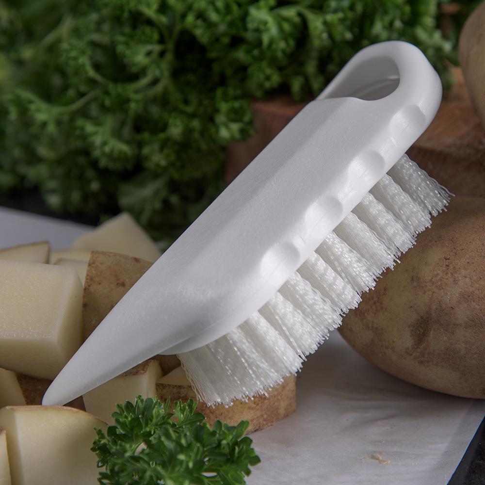"Carlisle 4041202 5-3/4"" Potato Brush - Poly, White"