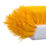 "Carlisle 4042200 10"" Dual Surface Floor Scrub Brush Head - Poly/Plastic, Yellow"