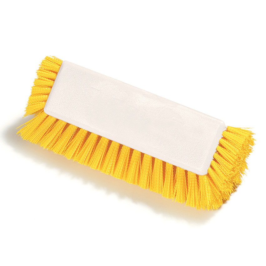 Carlisle 4042200 10-in Flo-Pac Dual Surfaced Scrub Brush W/End Brist Restaurant Supply